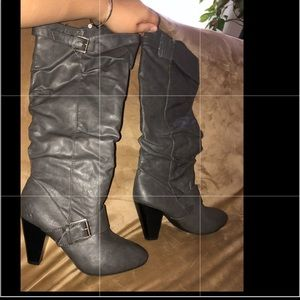 Rampage gray heel boots